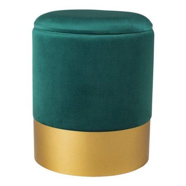 Stool Velvet Dark Green Size L Furniture Pufs Step