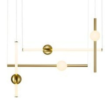 Pendant lamp O-LINE L-4 LED brass