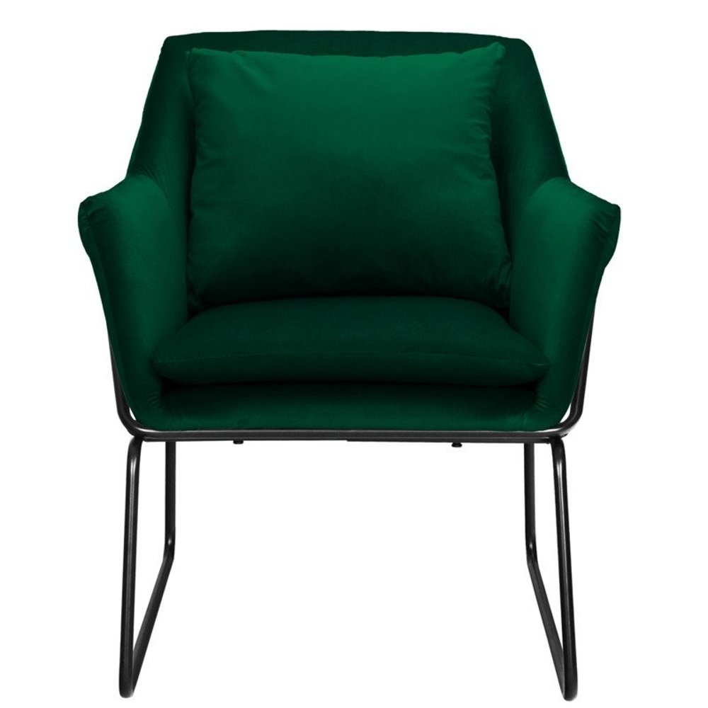 Armchair FLUENCE velvet dark green | Furniture \ Armchairs ...