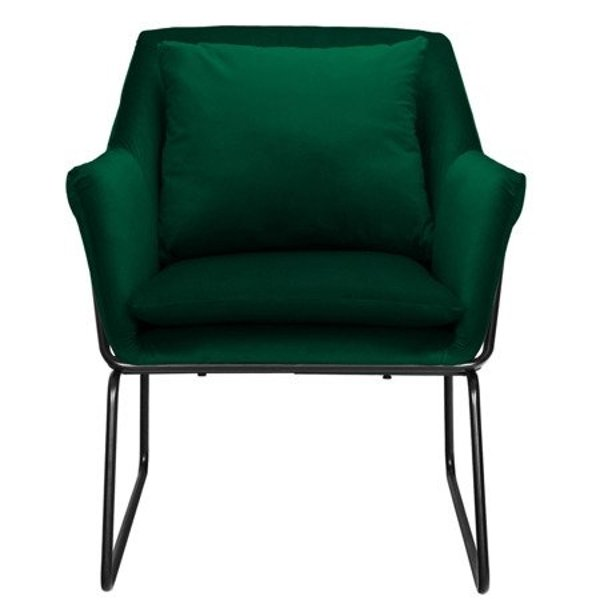 Armchair FLUENCE velvet dark green