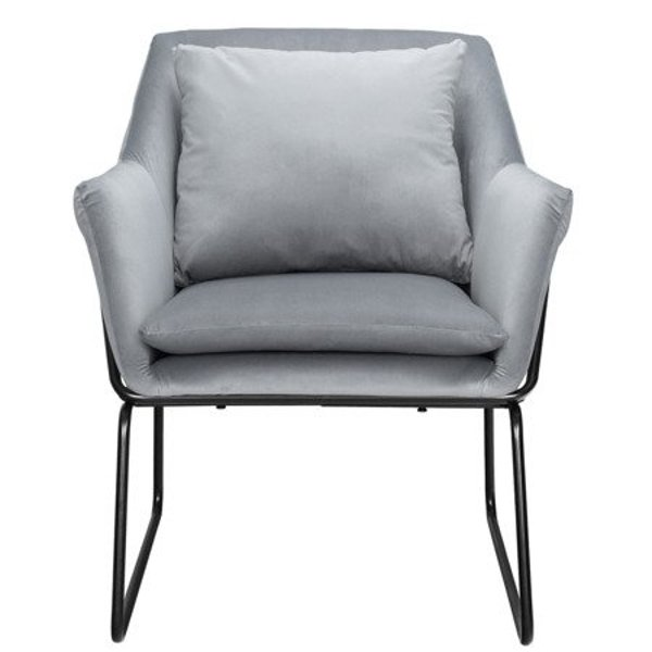 Armchair FLUENCE velvet grey