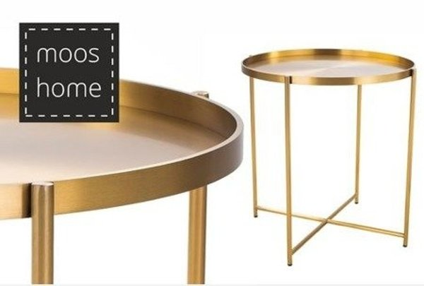 Coffe table MOON brass