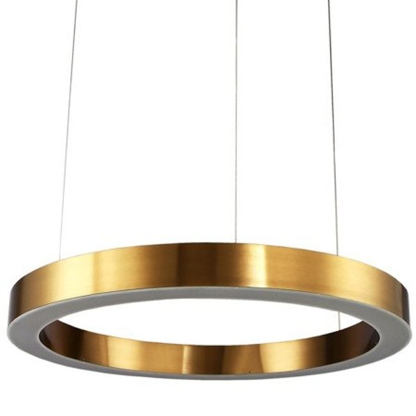 LED lamp CIRCLE 80 cm brass