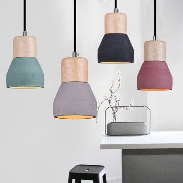 Lamp CONCRETE black 12 cm