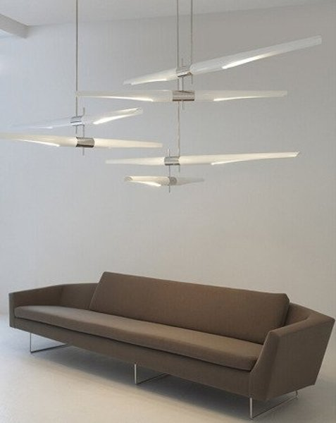 Lamp DRAGONFLY DUO white & chrome 189 cm