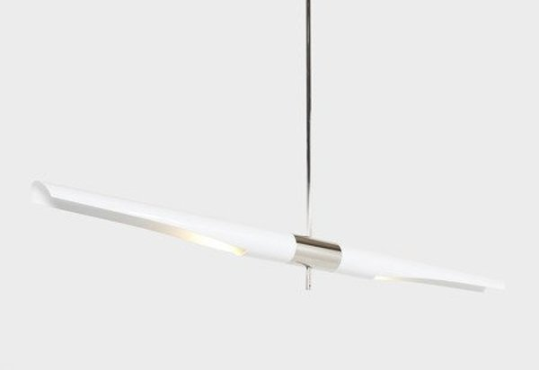 Lamp DRAGONFLY SOLO white & chrome 150 cm