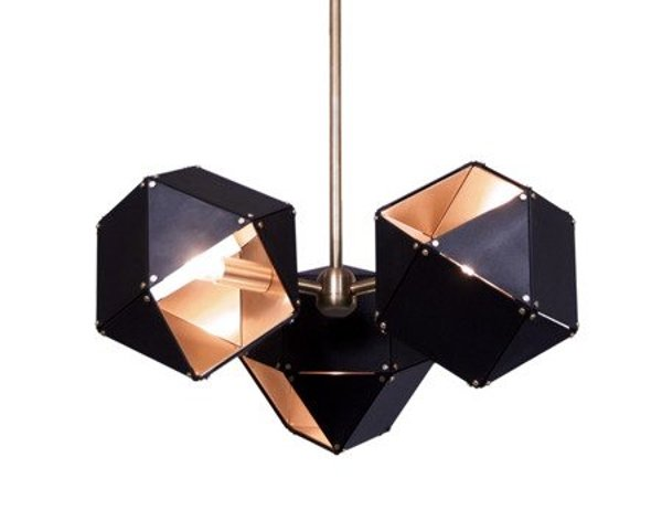Lamp NEW GEOMETRY-3 black & gold 45 cm
