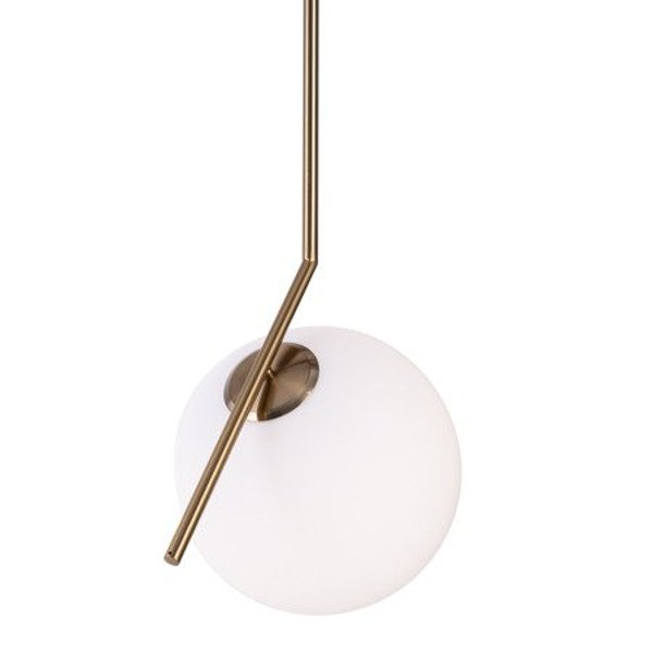 Lamp SOLARIS milk white & brass 20 cm