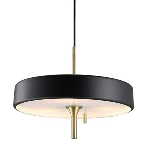 Pendant lamp ARTDECO black & gold 35 cm