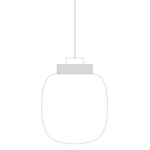 Pendant lamp BOOM grey & gold 25 cm