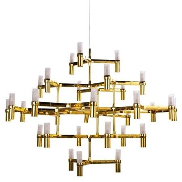 Pendant lamp CANDLES-30 gold 120 cm