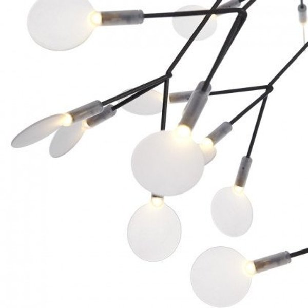 Pendant lamp CHIC BOTANIC L LED black 105 cm