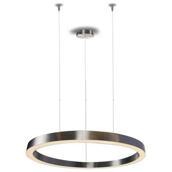 Pendant lamp CIRCLE 80 LED brushed nickel