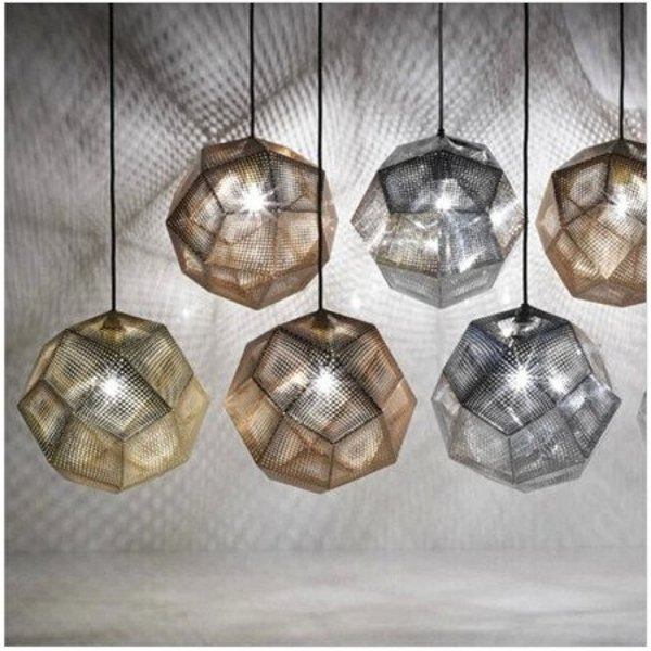 Pendant lamp FUTURI STAR gold 48 cm