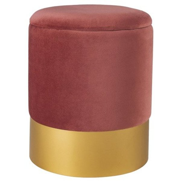 Stool VELVET dusty pink / size M