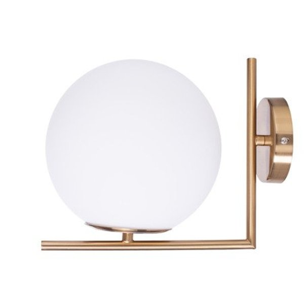 Wall lamp SOLARIS white & gold 22 cm