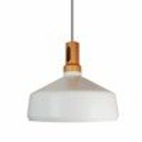 Lamp NORDIC WOODY white & wood 35 cm
