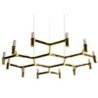 Pendant lamp CANDLES-12B gold 106 cm