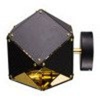Wall lamp NEW GEOMETRY-1 black & gold 15,5 cm