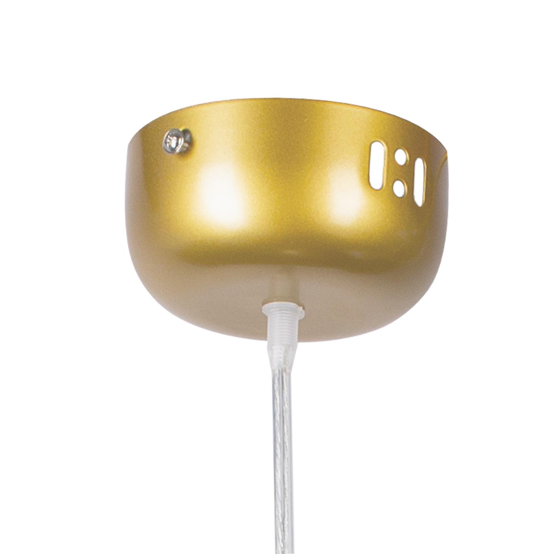 Lampa Wiszaca Bubbles 1 Led Transparentno Zlota Lampy Wiszace